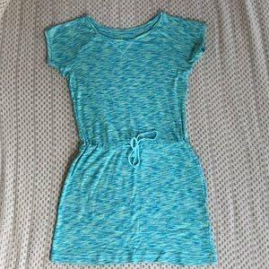 Columbia Shirt Dress Space Dye Green Drawstring